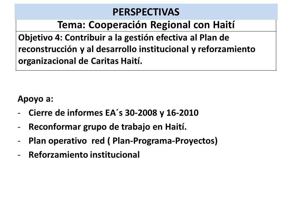 Tema: Cooperación Regional con Haití