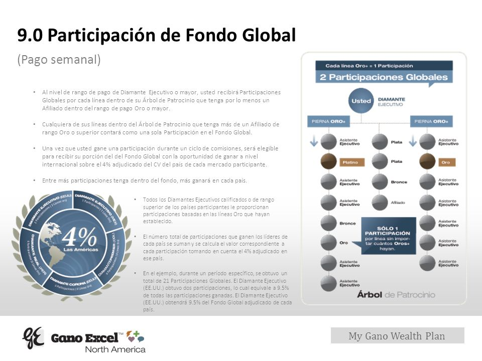 9.0 Participación de Fondo Global
