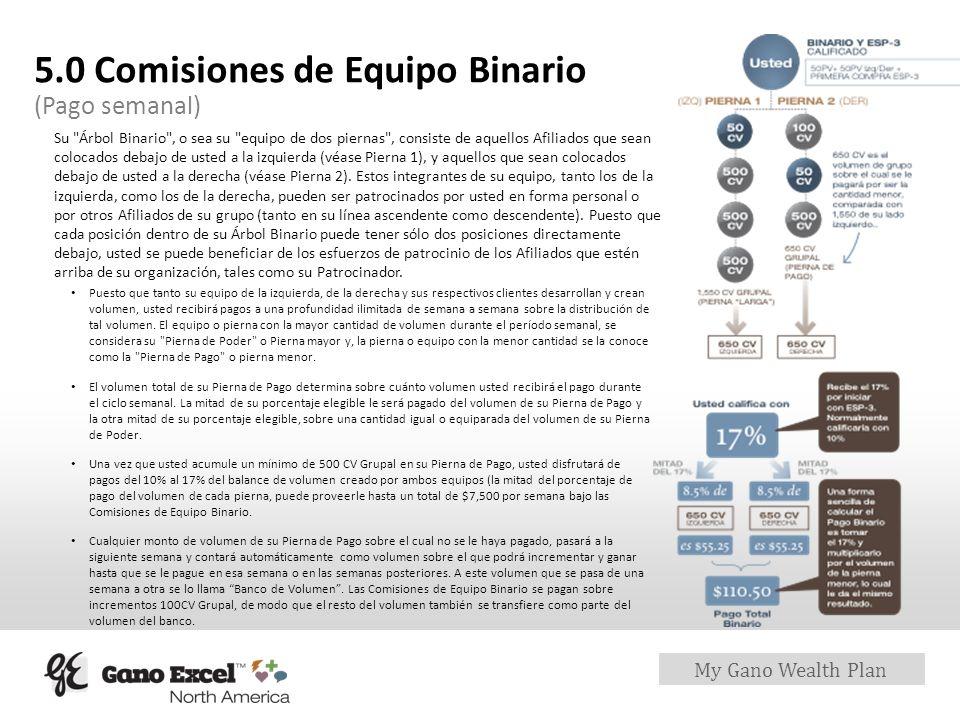 5.0 Comisiones de Equipo Binario