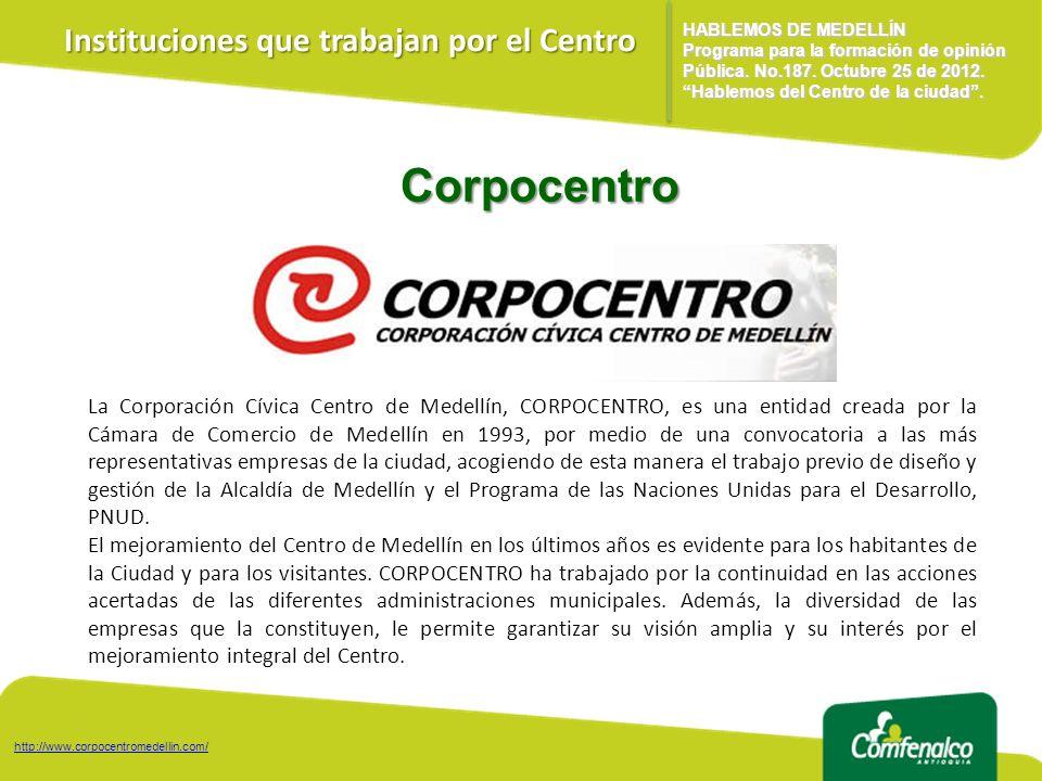 Corpocentro Instituciones que trabajan por el Centro