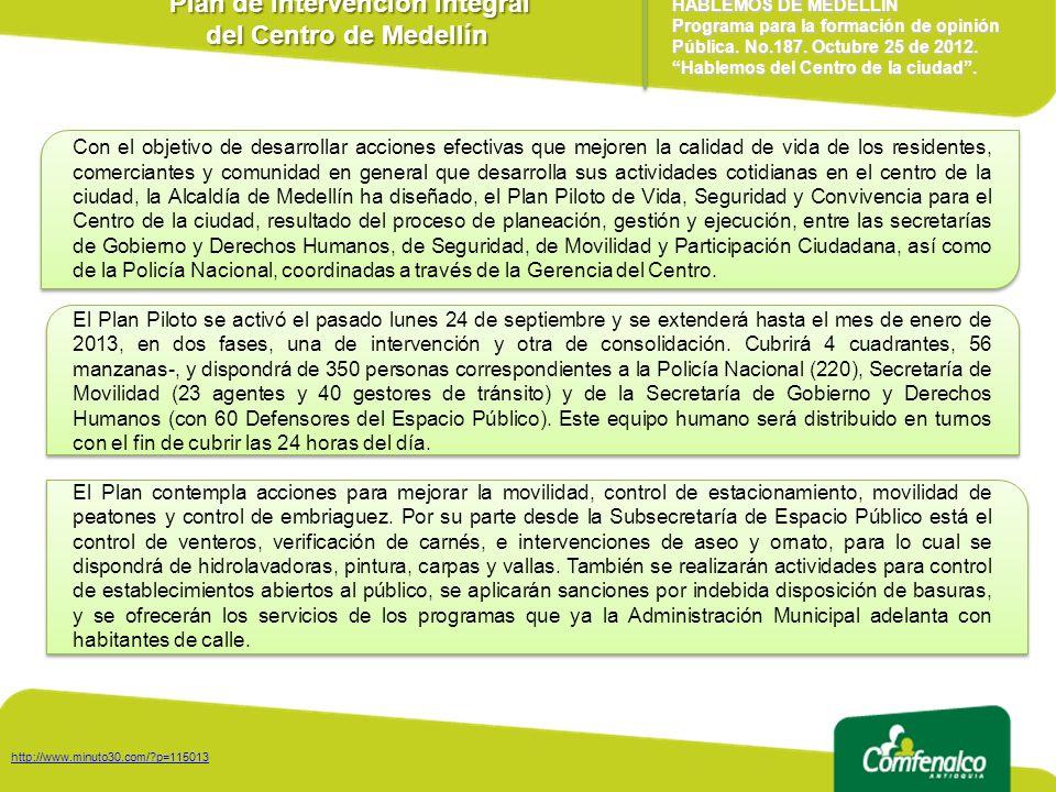 Plan de Intervención Integral del Centro de Medellín