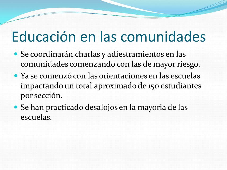 Educación en las comunidades