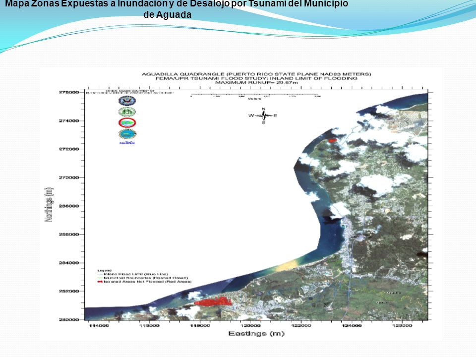 Mapa Zonas Expuestas a Inundación y de Desalojo por Tsunami del Municipio