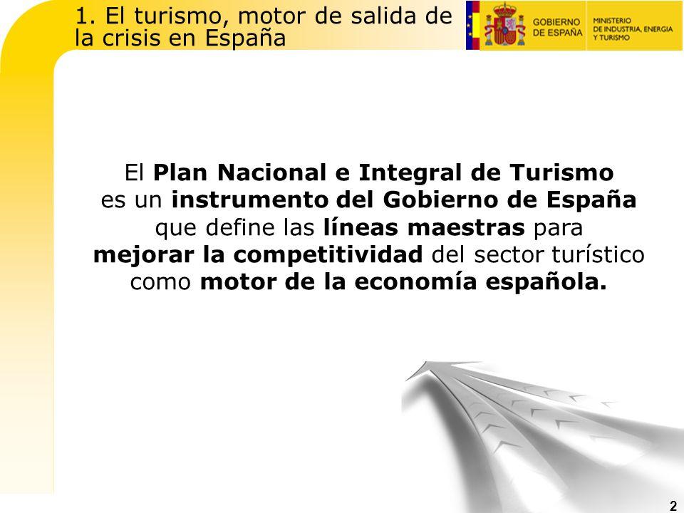 1. El turismo, motor de salida de la crisis en España