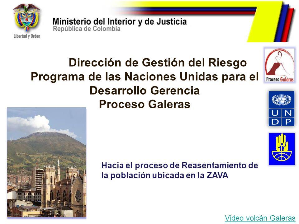 Dirección de Gestión del Riesgo Programa de las Naciones Unidas para el Desarrollo Gerencia