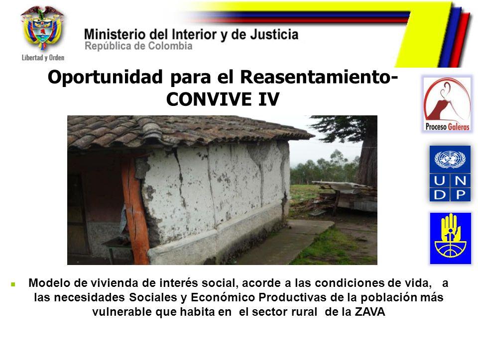 Oportunidad para el Reasentamiento-CONVIVE IV