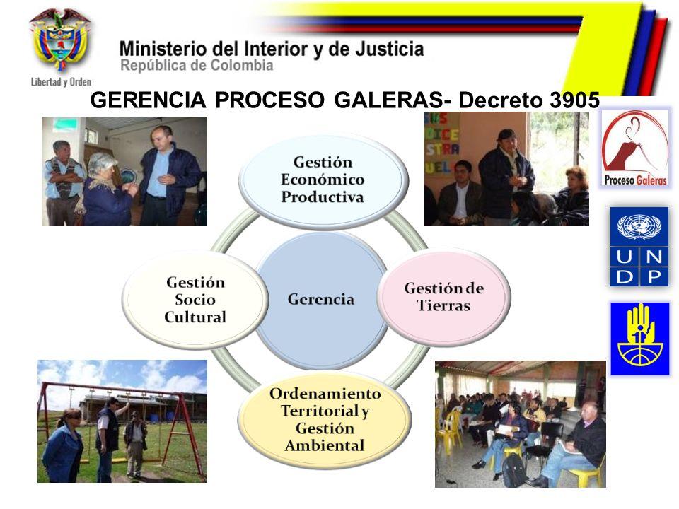 GERENCIA PROCESO GALERAS- Decreto 3905
