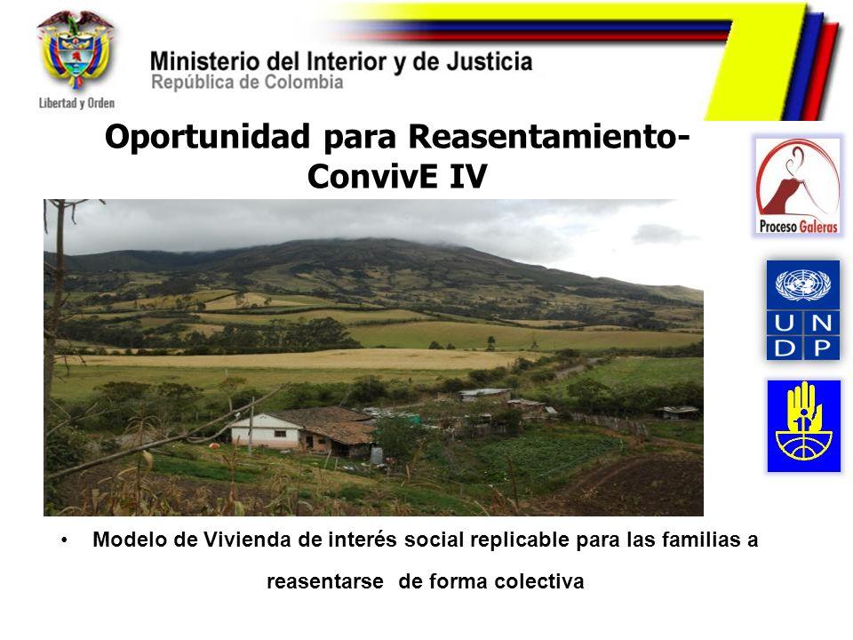 Oportunidad para Reasentamiento- ConvivE IV
