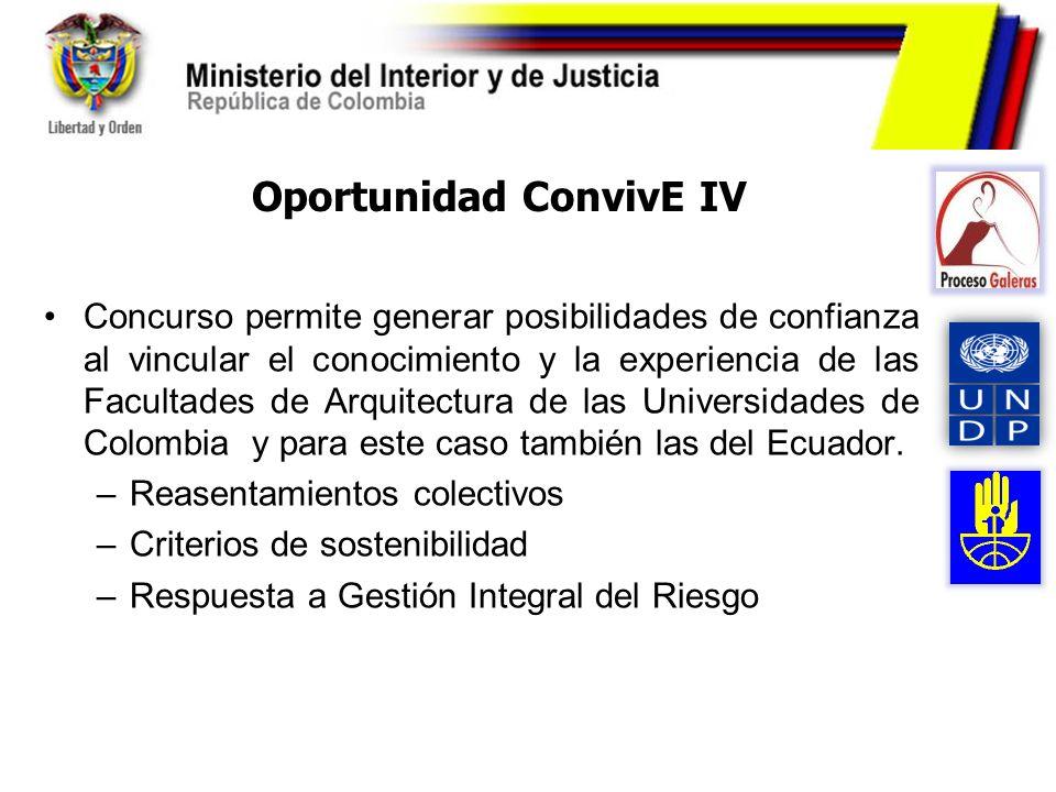 Oportunidad ConvivE IV