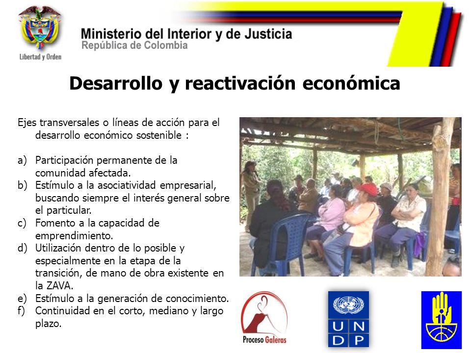 Desarrollo y reactivación económica