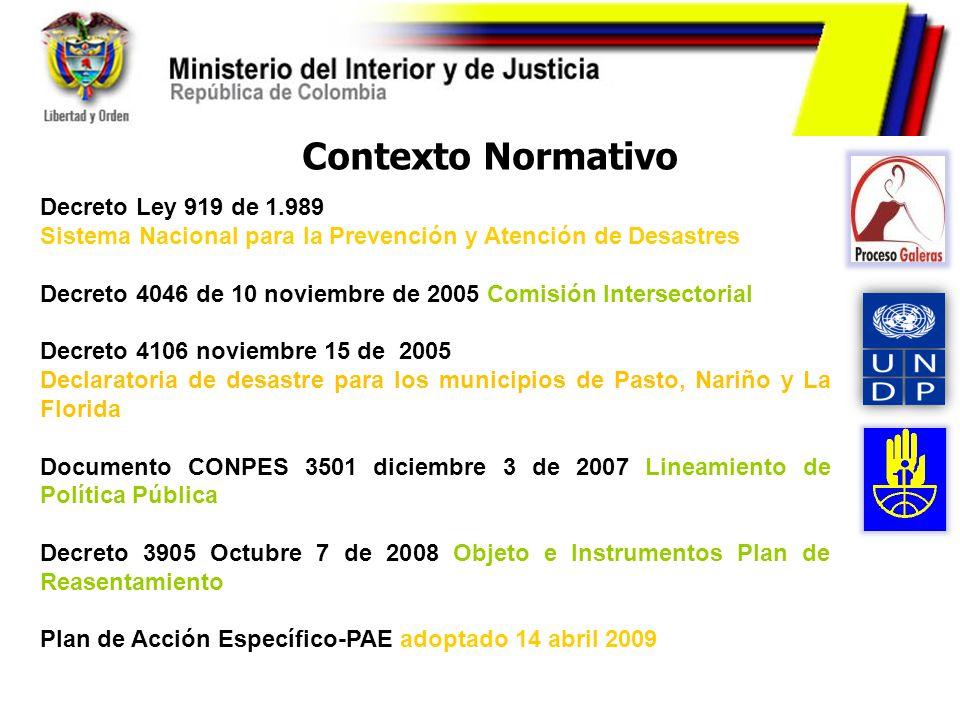 Contexto Normativo Decreto Ley 919 de 1.989