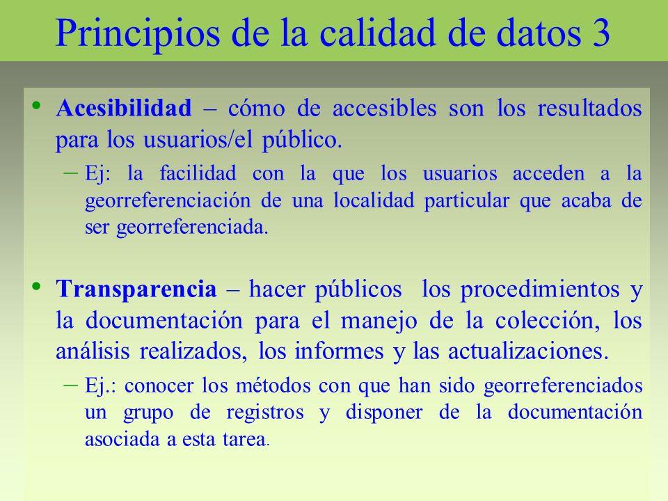 Principios de la calidad de datos 3