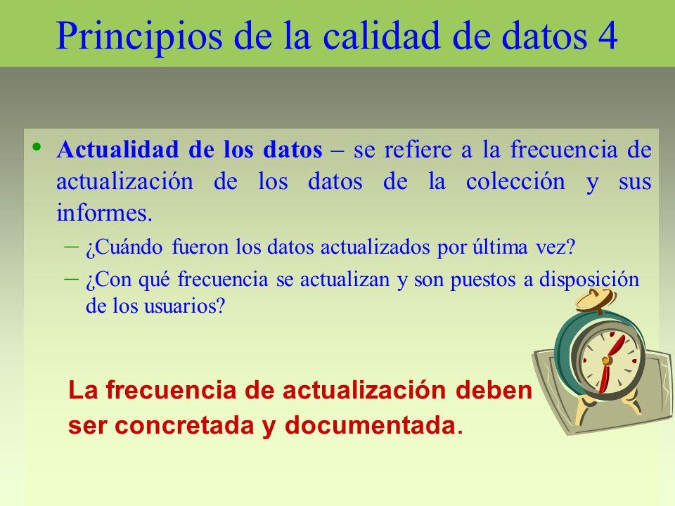 Principios de la calidad de datos 4