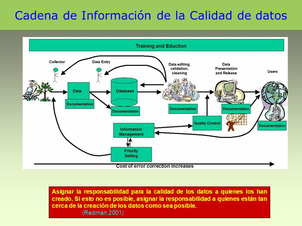 Cadena de Información de la Calidad de datos