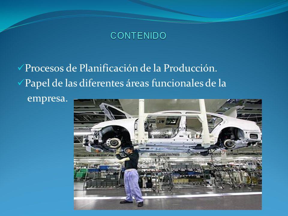 Procesos de Planificación de la Producción.