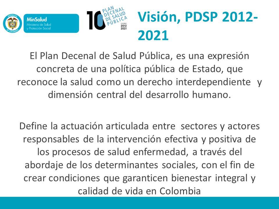 Visión, PDSP 2012-2021