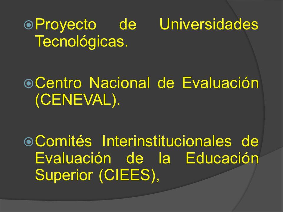 Proyecto de Universidades Tecnológicas.