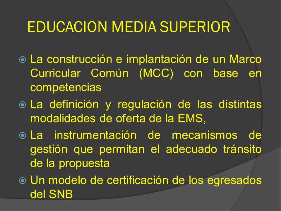 EDUCACION MEDIA SUPERIOR