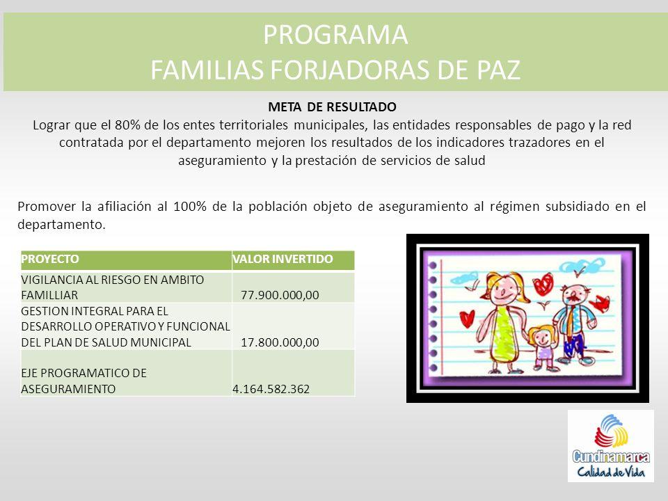 FAMILIAS FORJADORAS DE PAZ