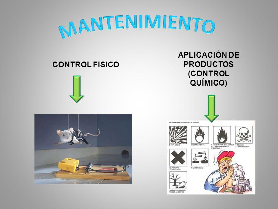 APLICACIÓN DE PRODUCTOS (CONTROL QUÍMICO)