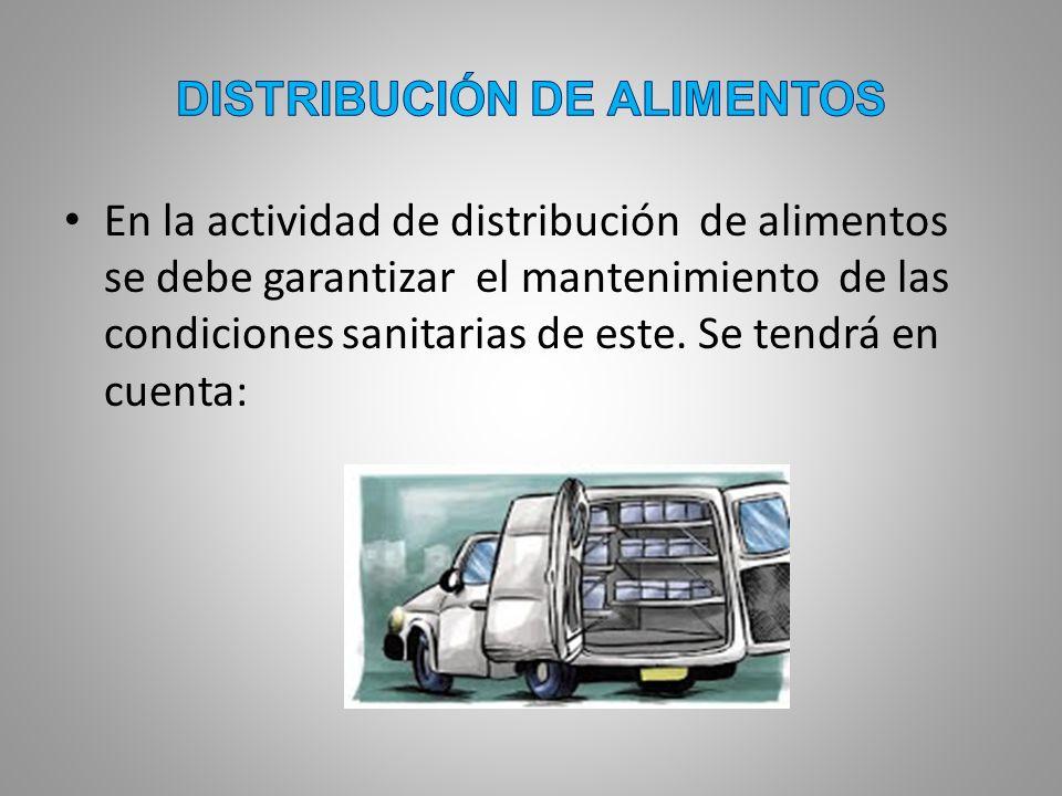 DISTRIBUCIÓN DE ALIMENTOS