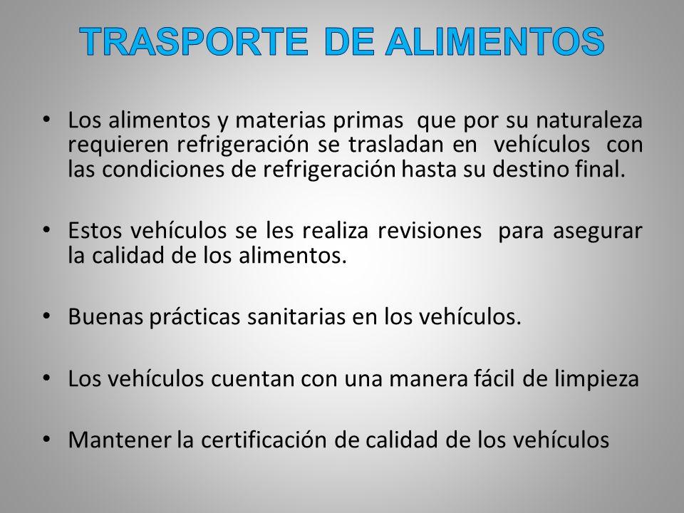 TRASPORTE DE ALIMENTOS