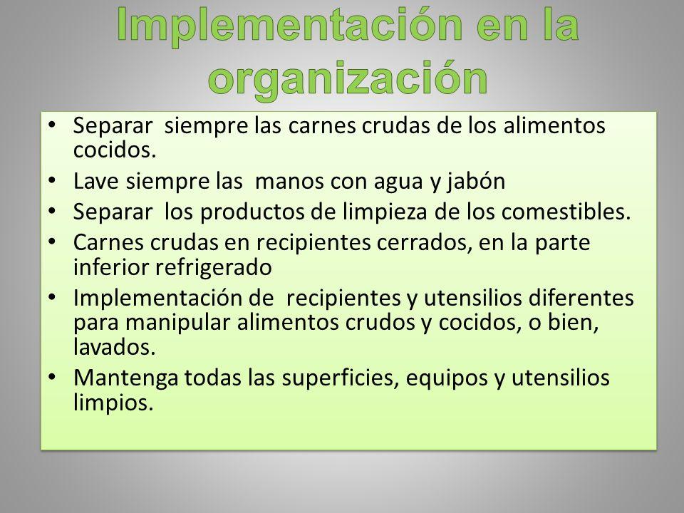 Implementación en la organización