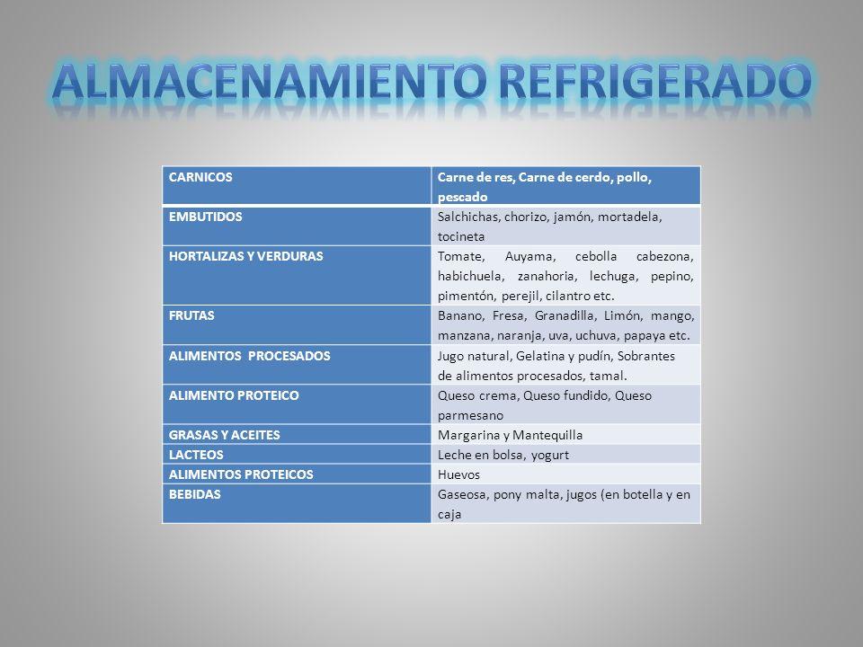 ALMACENAMIENTO REFRIGERADO