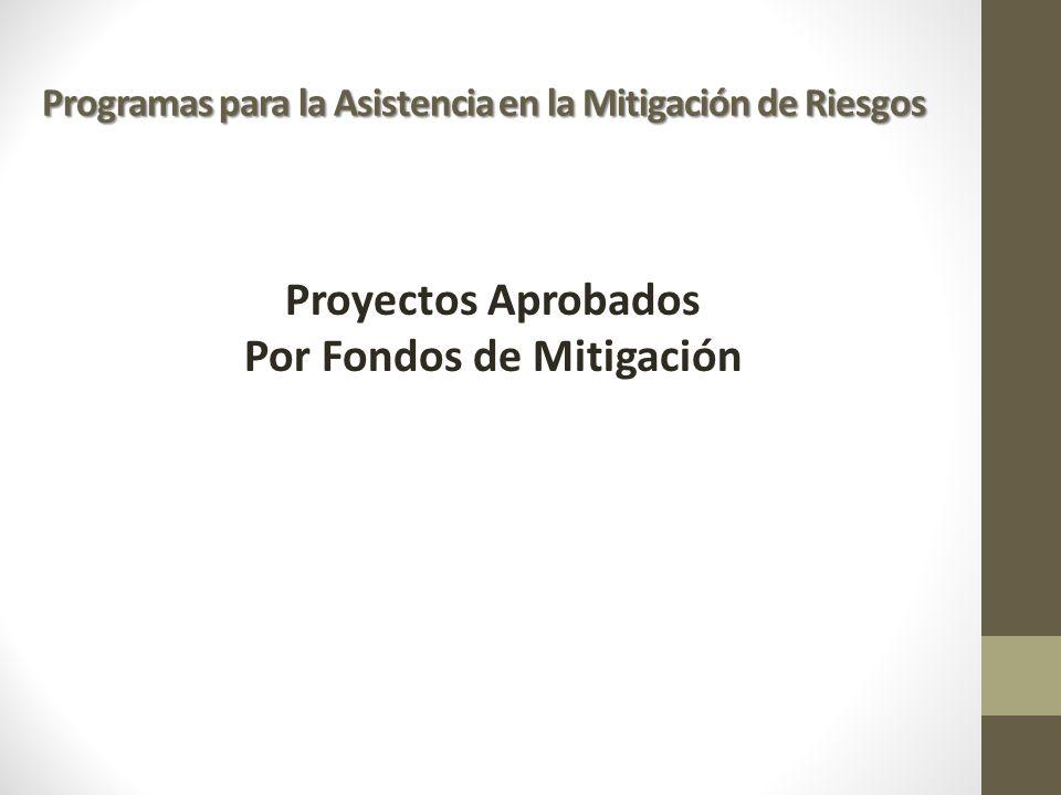 Por Fondos de Mitigación