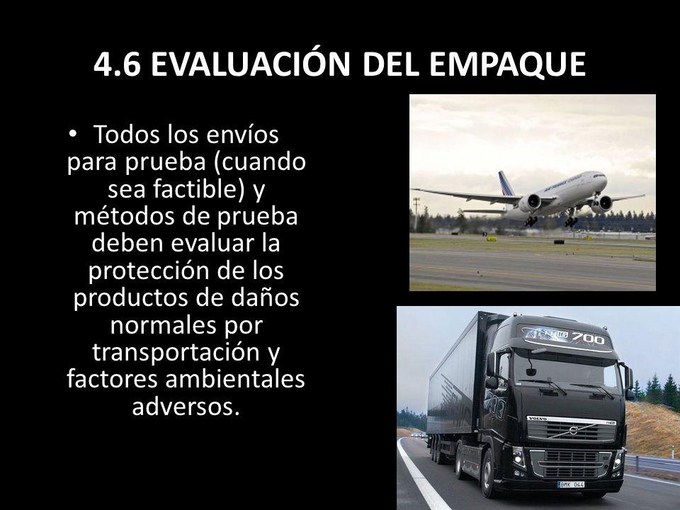 4.6 EVALUACIÓN DEL EMPAQUE