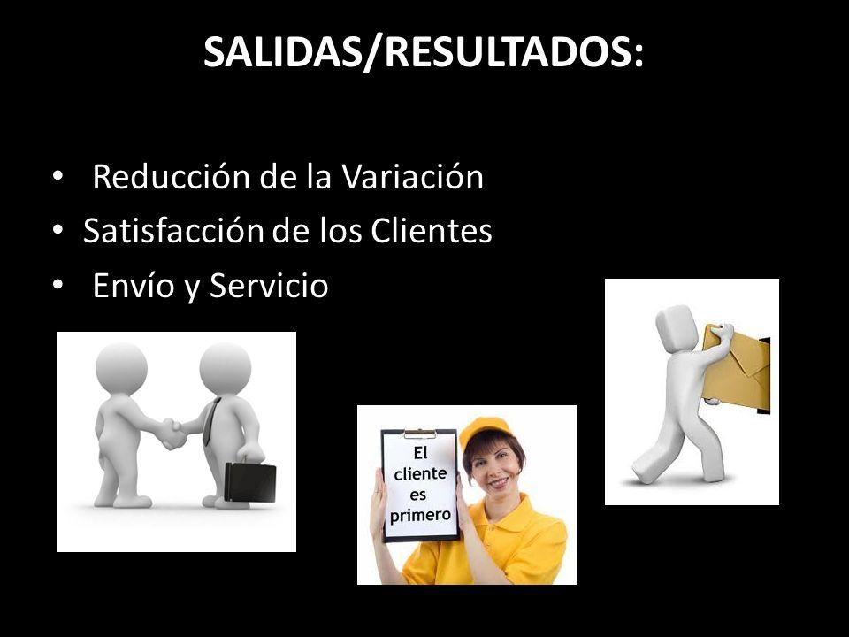 SALIDAS/RESULTADOS: Reducción de la Variación