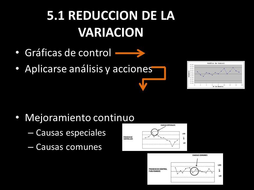 5.1 REDUCCION DE LA VARIACION