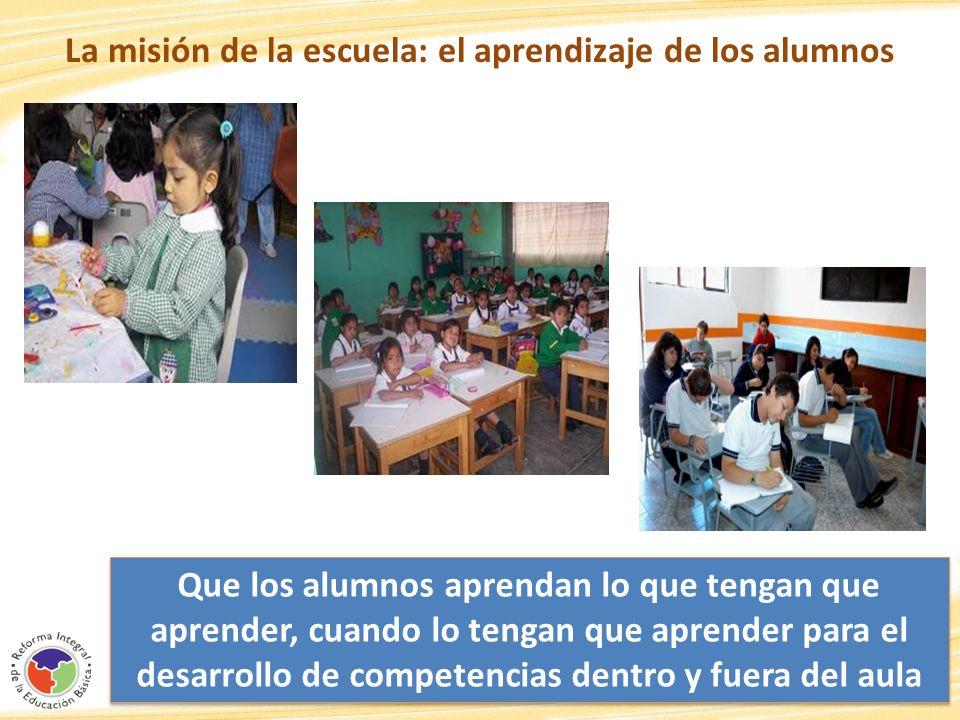 La misión de la escuela: el aprendizaje de los alumnos
