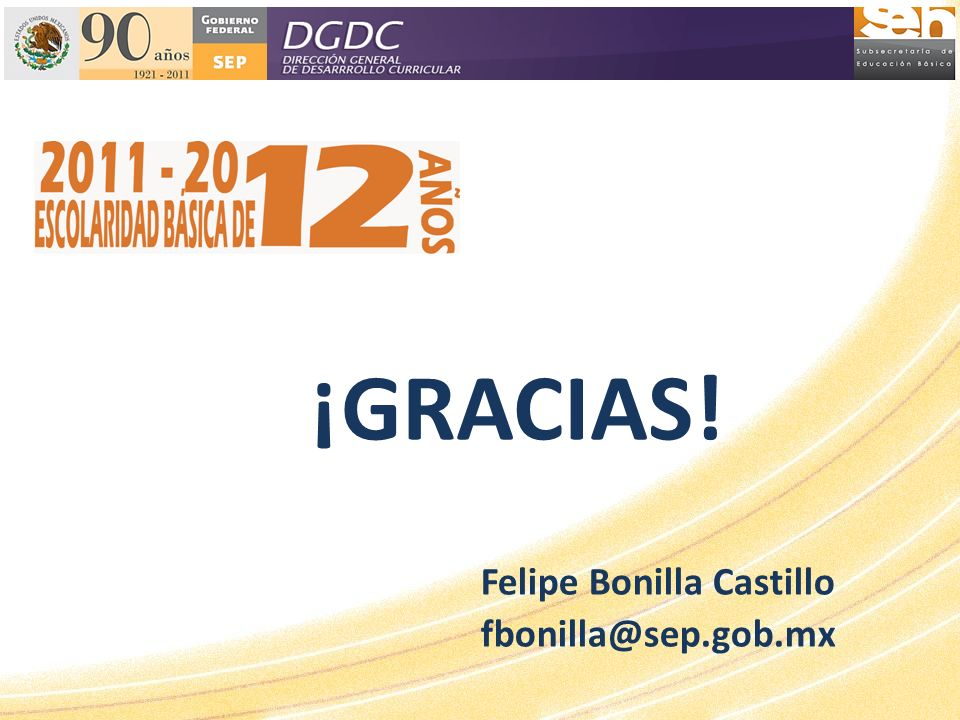 Felipe Bonilla Castillo fbonilla@sep.gob.mx