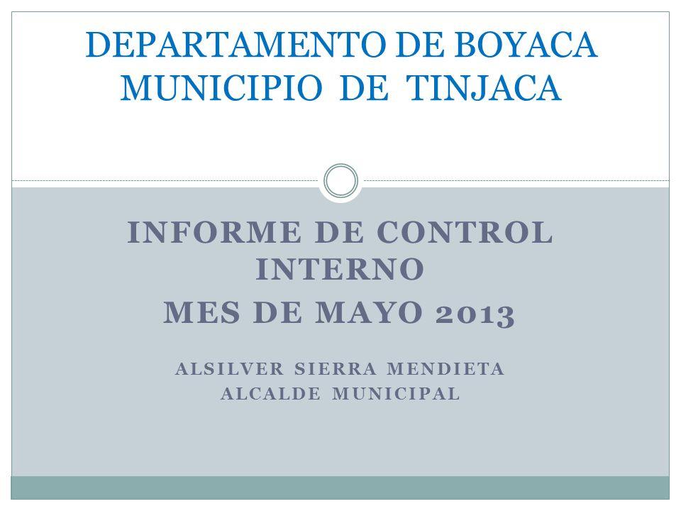 DEPARTAMENTO DE BOYACA MUNICIPIO DE TINJACA
