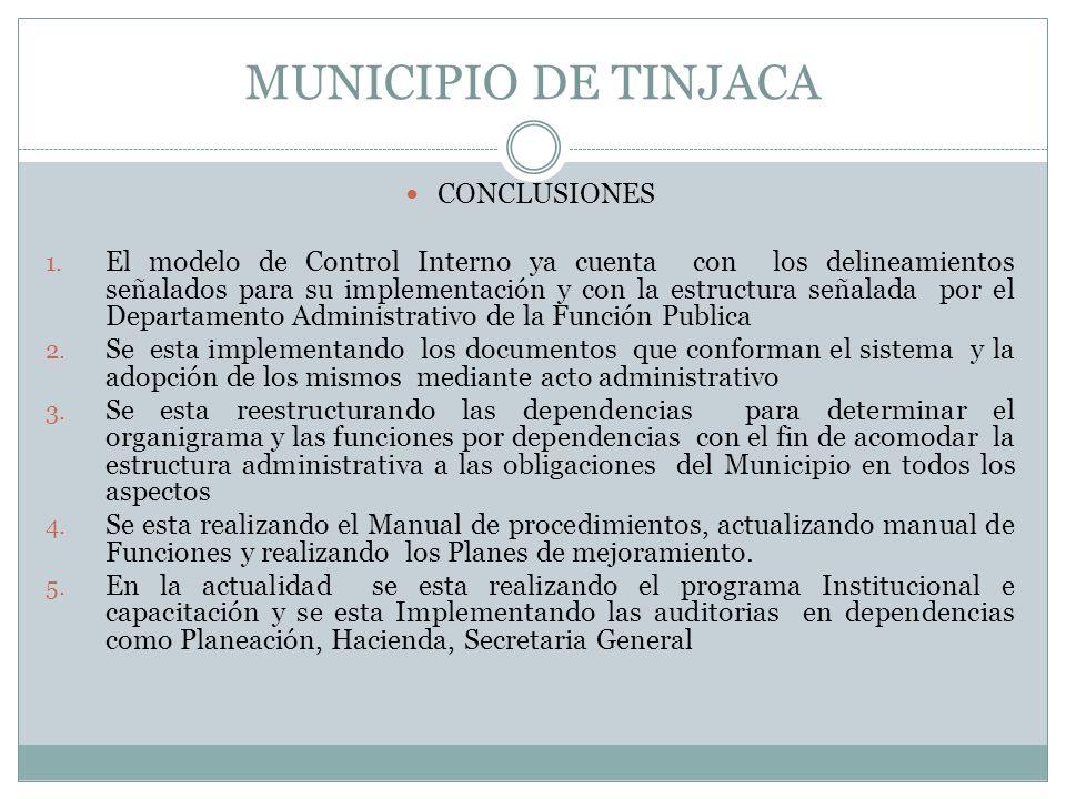 MUNICIPIO DE TINJACA CONCLUSIONES