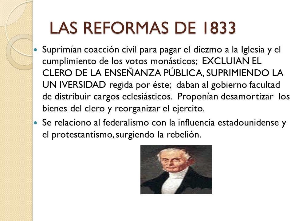 LAS REFORMAS DE 1833
