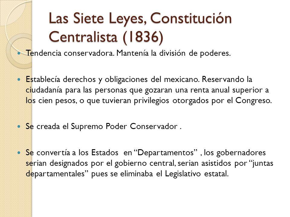 Las Siete Leyes, Constitución Centralista (1836)