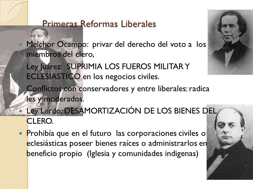 Primeras Reformas Liberales