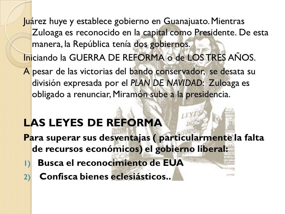 Juárez huye y establece gobierno en Guanajuato