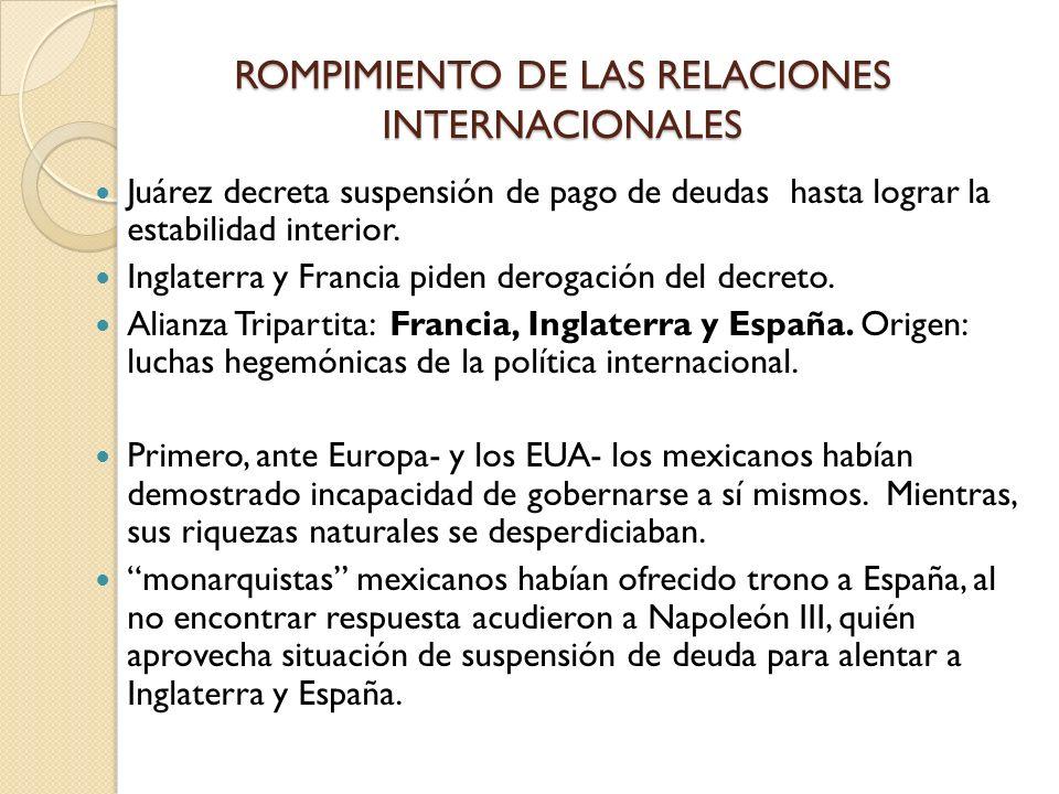 ROMPIMIENTO DE LAS RELACIONES INTERNACIONALES