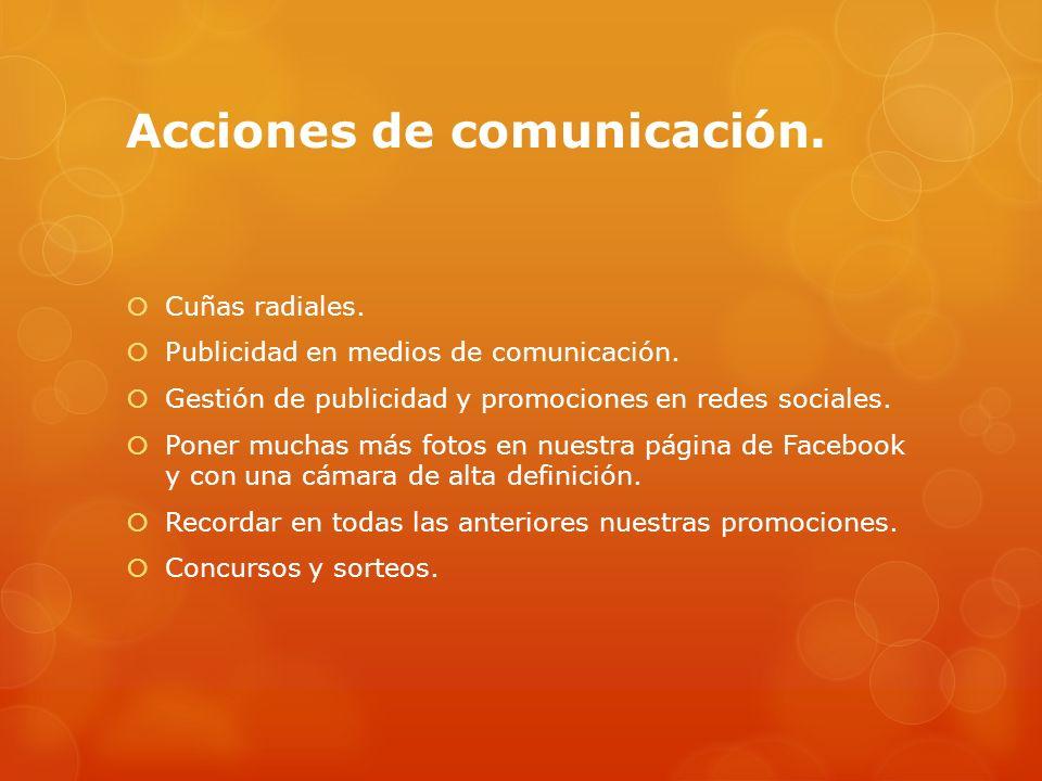 Acciones de comunicación.