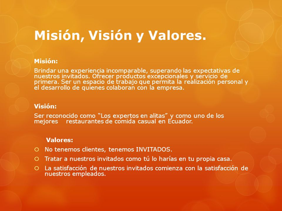 Misión, Visión y Valores.