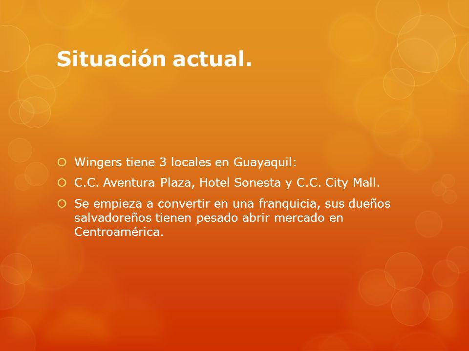 Situación actual. Wingers tiene 3 locales en Guayaquil: