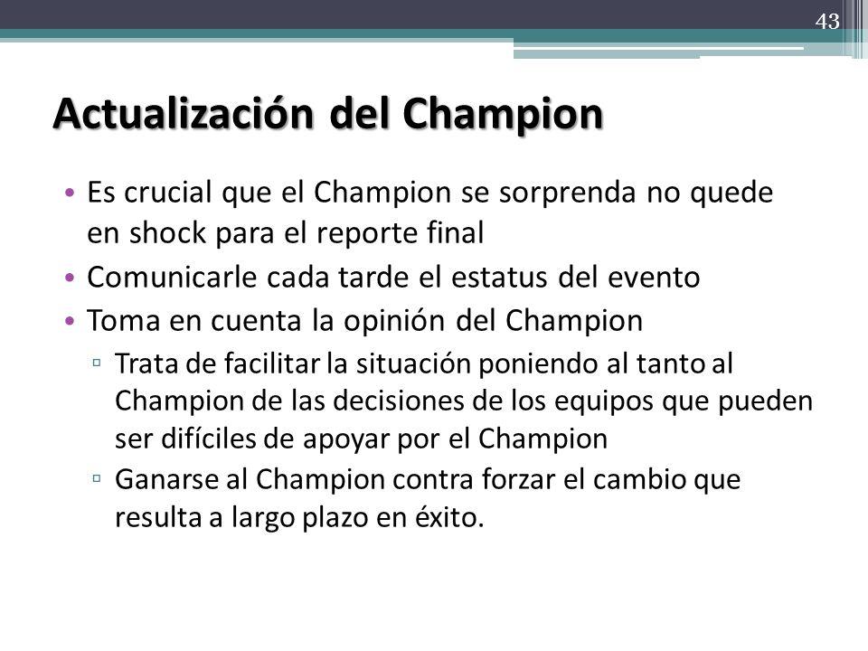 Actualización del Champion