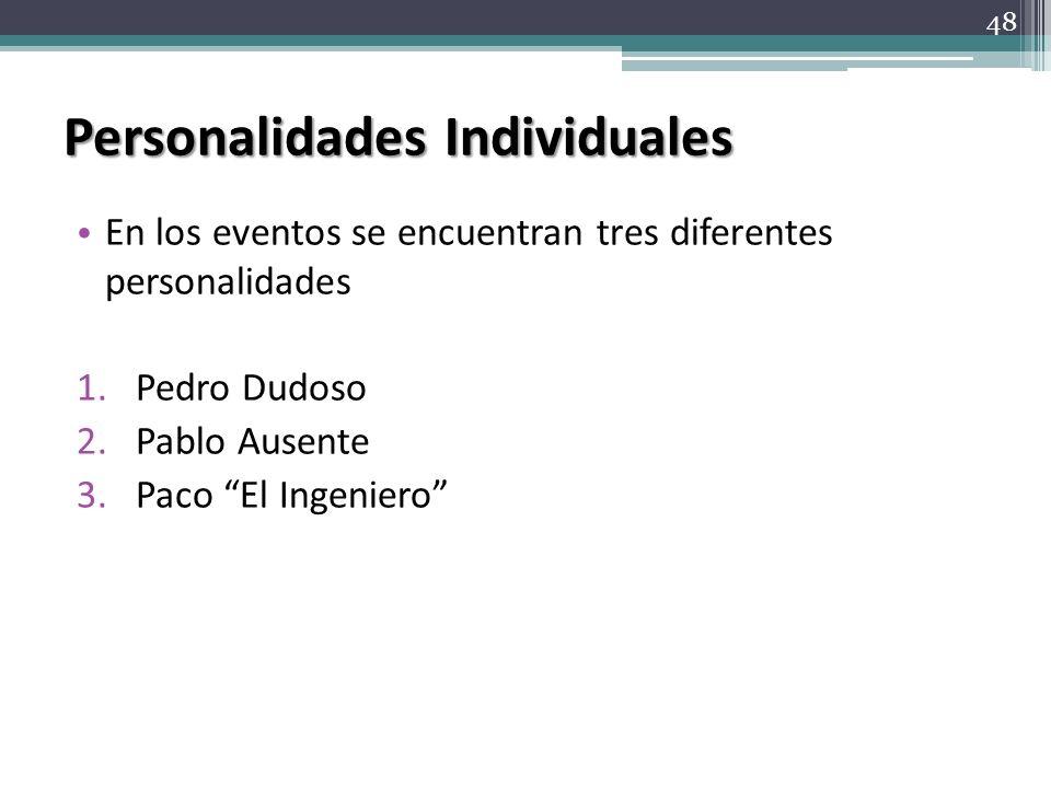 Personalidades Individuales