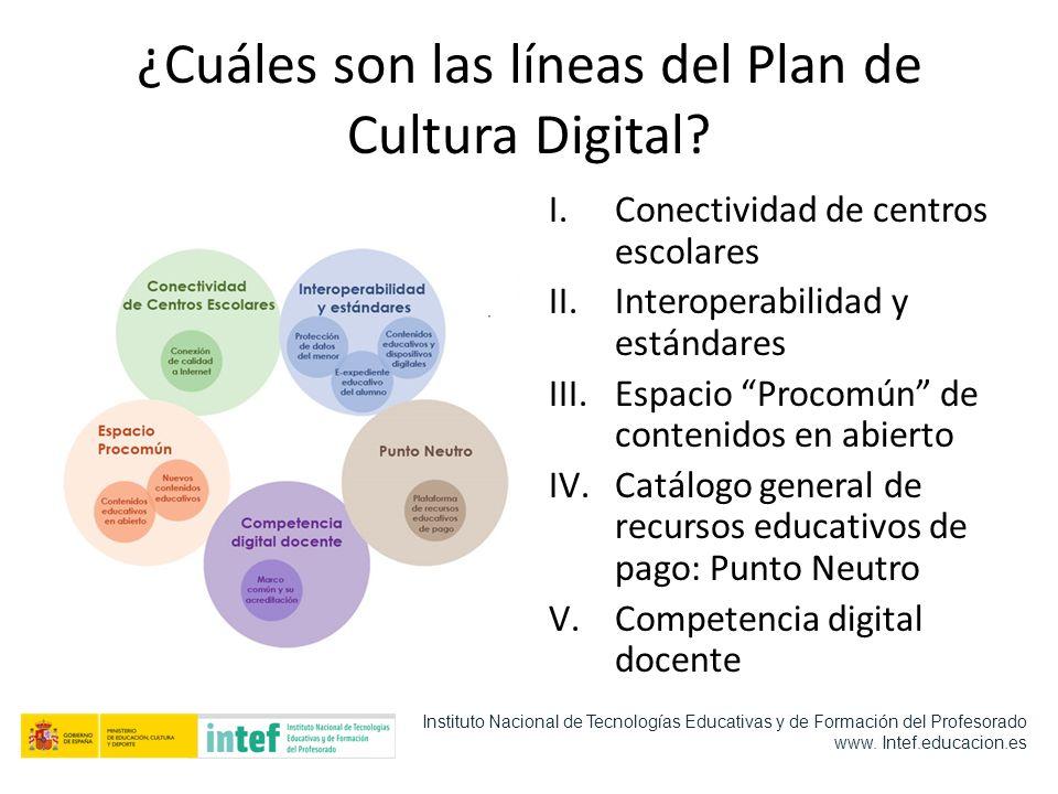 ¿Cuáles son las líneas del Plan de Cultura Digital