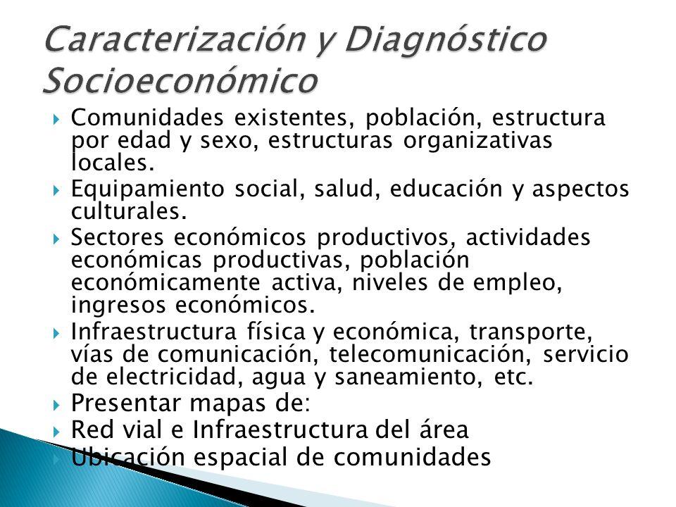 Caracterización y Diagnóstico Socioeconómico