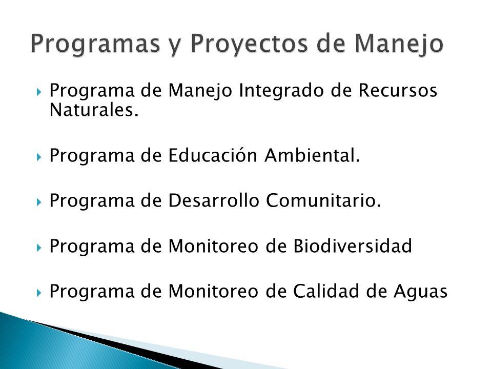 Programas y Proyectos de Manejo