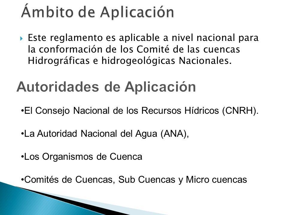 Ámbito de Aplicación Autoridades de Aplicación